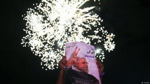 Anhänger Hassan Rohanis feiern den Wahlsieg ihres Präsidenten in Teheran; Foto: Tasnim
