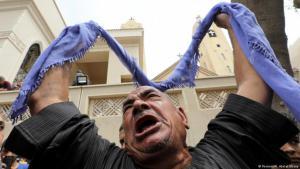 Ägyptischer Kopte trauert nach den Anschlägen auf Christen in Tanta; Foto: Reuters/M. Abd el Ghany