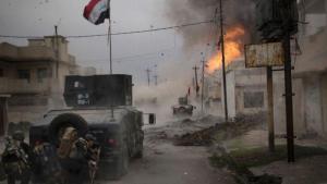Einheiten der irakischen Armee rücken im Westteil der umkämpften Stadt Mossul vor; Foto: dpa