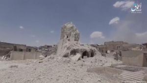 Die vom IS zerstörte Al-Nuri-Moschee in Mossul; Foto: Reuters/ Ahmaq News Agency
