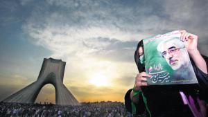 "Anhänger der ""Grünen Bewegung"" in Teheran im Sommer 2009; Foto: Reuters"