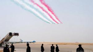 Kurzer Stopp in Riad auf dem King Khalid Flughafen während des Besuchs von US-Präsident Trump in Saudi-Arabien  am 20.05.2017. Foto: picture-alliance/dpa/ZUMA Wire/A.Hanks