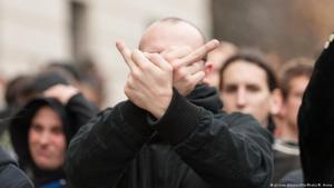 Demonstration von europäischen Rechtspopulisten im März 2015; Foto: picture-alliance/NurPhoto/Markus Heine