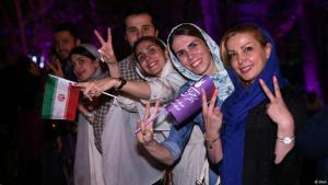 Iraner feiern Wahlsieg Rohanis in Teheran. Quelle: IRNA