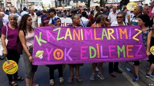 Demonstrationen von HPD-Anhängern in Istanbul. Foto: DW
