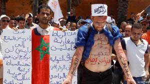 Proteste gegen die Inhaftierung des marokkanischen Oppositionsführers Nasser Zefzafi im nordmarokkanischen El-Hoceima