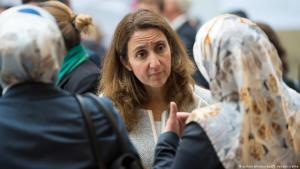 Aydan Özoguz (SPD), die Beauftragte der Bundesregierung für Migration, Flüchtlinge und Integration auf der Deutschen Islamkonferenz 2015; Foto: dpa/picture-alliance