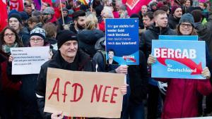 Demo gegen die Rechtspopulisten der AfD; Foto: dpa