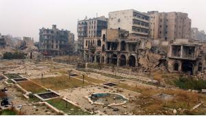Zerstörtes Aleppo; Foto: picture-alliance