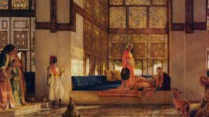 Historisches Gemälde zeigt muslimische Herrscherin am Hof  der Abbasiden; Foto: © Raseef 22