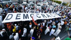 Demonstration für Freiheit und Demokratie in Bahrain im September 2012; Foto: Reuters/Hamad I Mohammed