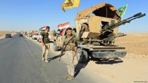 Schiitische Milizen marschieren in der irakischen Provinz Ninive ein: Foto: Reuters/ A. Jalal
