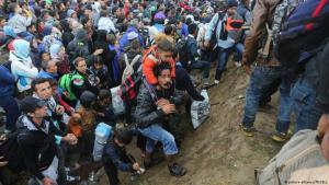 Als die Balkanrout noch offen war: Flüchtlinge in Opatovac, an der serbisch-kroatischen Grenze (25.9.2015)