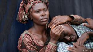 Gedenkfeier in Kigali anlässlich des 20. Jahrestages des Völkermordes am 7. April 2014; Foto: Getty Images