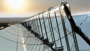 Solarmodule - Wüstenstromprojekt Desertec; Quelle: picture-alliance/dpa