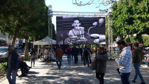 """Besucher der """"Journées Cinématographiques de Carthage"""" 2017; Foto: Sarah Mersch"""