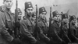 Bosnier, die während der NS-Zeit als Freiwillige auf Seiten der Wehrmacht kämpften; Foto: Getty Images/Keystones