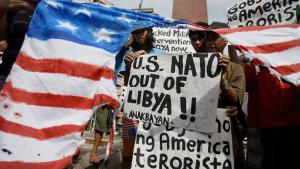 Internationale Proteste gegen Nato-Militärintervention in Libyen; Foto: AP