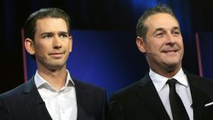 Österreichs neuer Regierungschef Sebastian Kurz (l.) und der FPÖ-Vorsitzende Heinz-Christian Strache; Foto: dpa