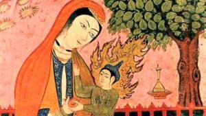 Jungfrau Maria und Jesus, persische Miniatur; Foto: wikipedia