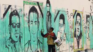 Graffiti erinnert an die Opfer der Revolution 2011 in Ägypten. Foto: Getty images afp
