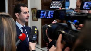 Französische Fernsehreporter befragen Syriens Präsident Baschar al-Assad in Damaskus; Foto: Reuters/Sana