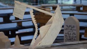 """Human Cargo""-Installation; Foto: DW/W. Dick"