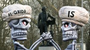 Symbolbild Al-Qaida und der IS; Foto: picture-alliance/dpa