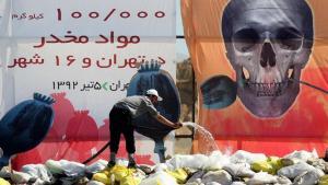 """Am """"Welttag der Drogenbekämpfung"""" wurden im Jahr 2013 rund 100 Tonnen Rauschgift in Teheran und 16 anderen iranischen Städten vernichtet; Foto: IRNA"""