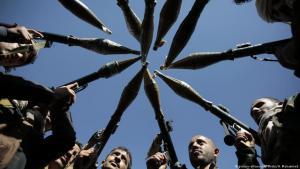 Gefolgsleute der Huthis in Sanaa, Jemen; Foto: picture-alliance/AP