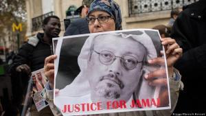 Solidaritätsdemo für Jamal Khashoggi vor der saudischen Botschaft in Paris; Foto: Imago