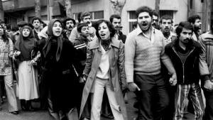 Proteste gegen den Schah im Jahr 1978 in Teheran; Foto: AP