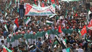 Anti-Assad-Proteste in Maaret al-Numan in der nördlichen Provinz Idlib im September 2018; Foto: Getty Images/AFP
