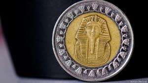Ägyptische Münze; Foto: picture-alliance/dpa