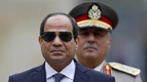 Ägyptens Präsident Abdel Fattah al-Sisi auf Staatsbesuch in Frankreich im Oktober 2017; Foto: epa/dpa
