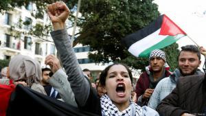 Proteste in Tunis gegen die Anerkennung Jerusalems als Hauptstadt Israels durch die Trump-Administration; Foto: Reuters