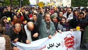 Ausschreitungen und Proteste gegen Preiserhöhungen am 12.01.2018 in Tunis; Foto: picture alliance/abaca/Y. Gaidi