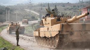 """""""Operation Olivenzweig"""" - türkischer Panzerkonvoi an der türkisch-syrischen Grenze; Foto: Reuters"""