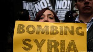 Proteste in New York gegen US-Luftschläge in Syrien am 7. April 2017; Foto: Getty Images/AFP