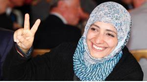 Die jemenitische Friedensnobelpreisträgerin Tawakkul Karman; Foto: AP