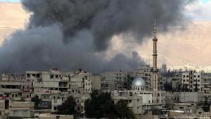Bombardierte und belagerte syrische Stadt Ost-Ghuta bei Damaskus; Foto: picture-alliance