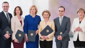 Deutschland Kabinett Merkel IV | Spahn | Barley | Klöckner | von der Leyen | Maas | Merkel; Foto: picture alliance/SvenSimon/E. Kremser