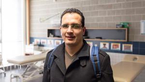 Für drei Monate zu Gast beim Nürnberger Bildungszentrum für Blinde und Sehbehinderte: Yassine Rihani aus Tunesien (Foto: ifa/Kuhnle)