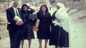 Von links: Großonkel Awad, Tanten Sofia und Fawzia und Großmutter Tamam in Nablus, Palästina 1968; Foto: privat