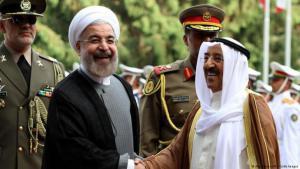 Besuch des Emirs von Kuwait, Sheikh Sabah al-Ahmad al-Sabah (r.), bei Irans Präsident Hassan Rohani in Teheran; Foto: AFP/Getty Images