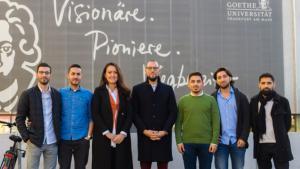 Der Vorstand des Muslimischen Jugendwerks (von links nach rechts): İsmail Özkan, Taner Beklen, Sema Özdemir, Oğuz; Quelle: Muslimisches Jugendwerk/Yusuf Sönmez