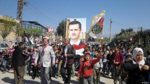 Pro-Assad-Demo in Damaskus im Jahr 2015; Foto: Reuters