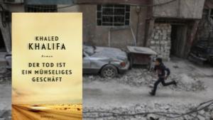 """Buchcover Khaled Khalifa """"Der Tod ist ein mühseliges Geschäft"""" im Rowohlt-Verlag"""