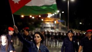 Proteste vor dem Regierungssitz in Amman am 4. Juni 2018; Foto: Mohammad Hamed/Reuters