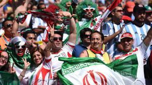 Iranische Fans bei der FIFA Fußball-Weltmeisterschaft; Foto: dpa/picture-alliance